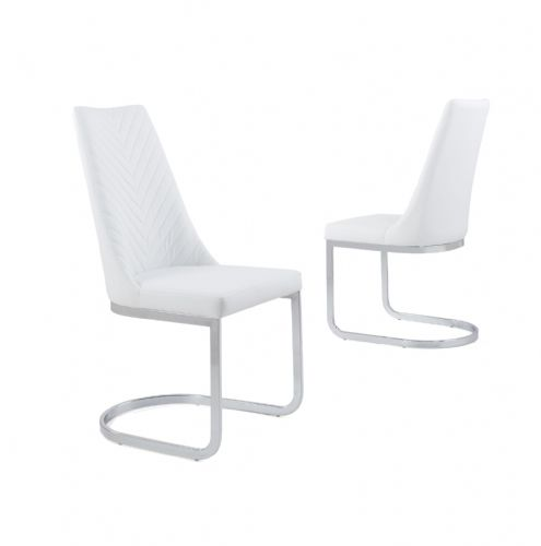 Curve Classic Milano Stitch Dining Chair - White